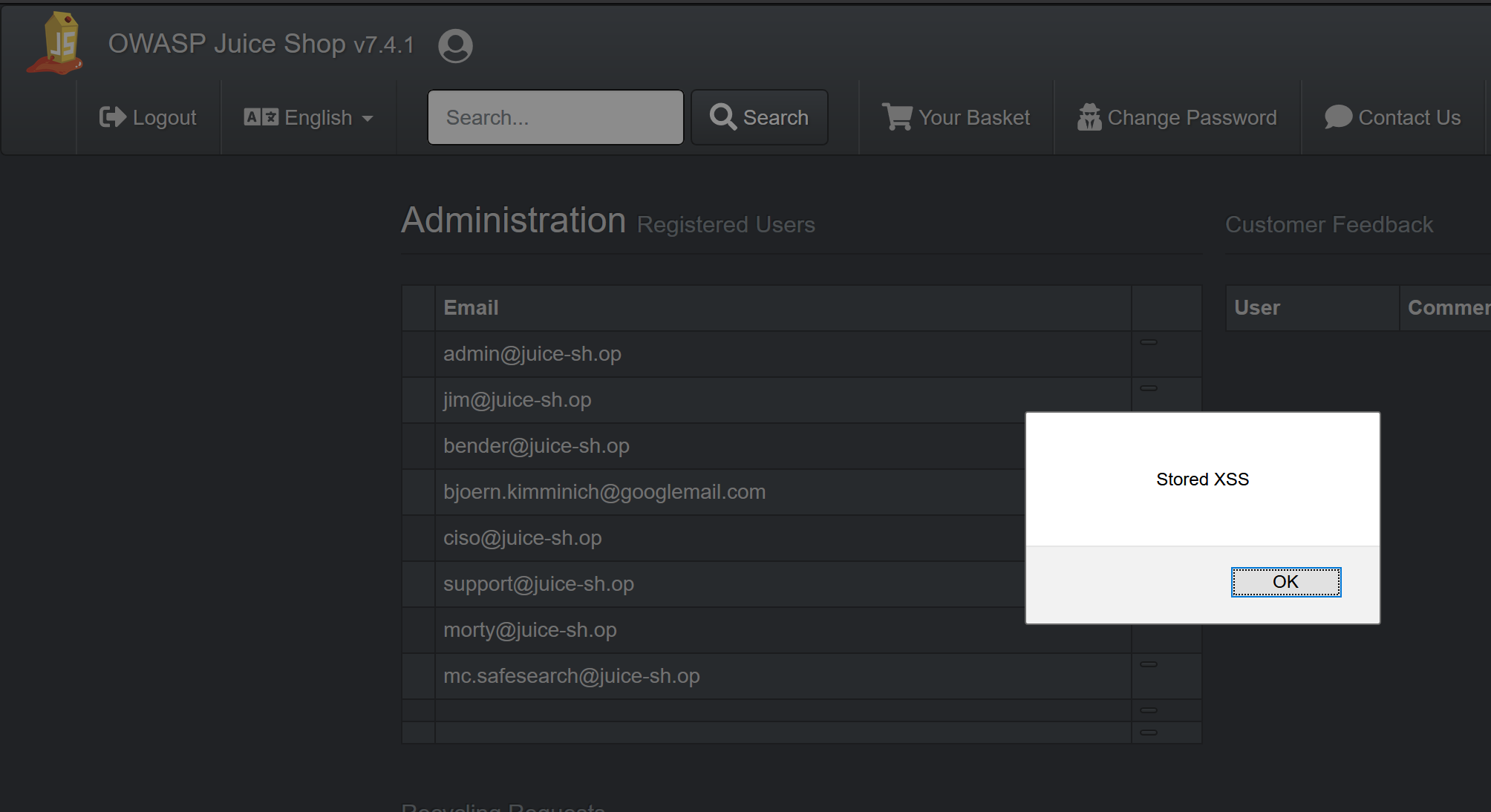 This is just a simple, and benign, example. XSS is bad news bears.