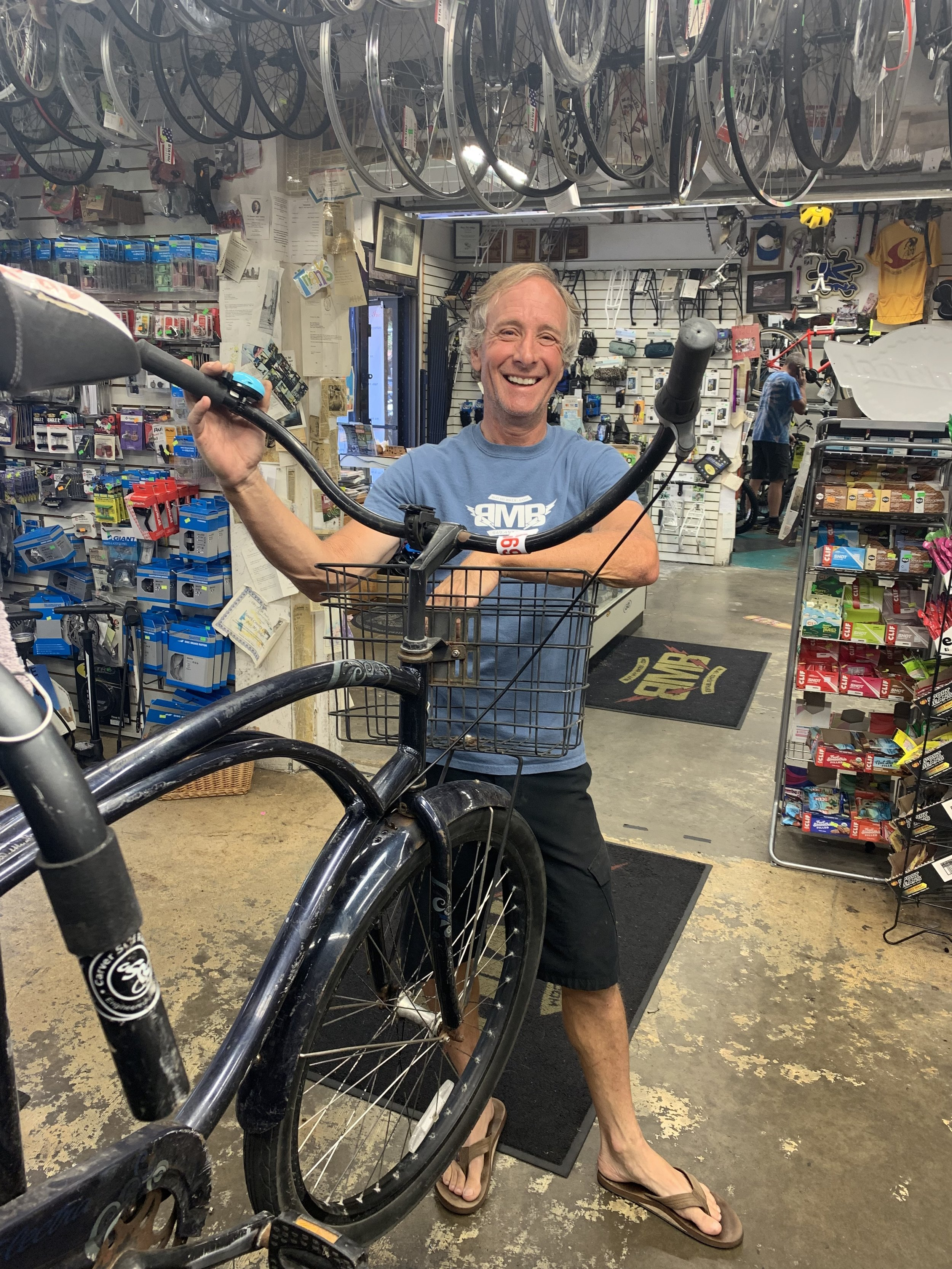 """Carl - Senior repair man since the 80's. His motto: """"Enjoy your bicycles, the outdoors and the thrill that it brings."""