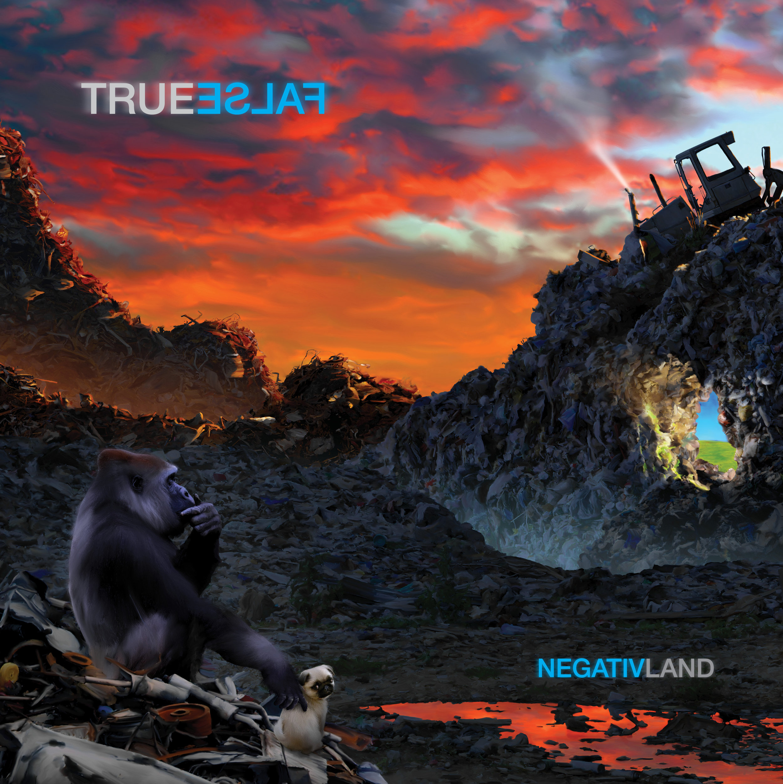 """And what is """"True False""""? - """"True False"""" is their 13th studio album and Negativland's 2019 return to all original music that you could mistake for actual songs, albeit ones being sung by dozens of sampled vocalists who have never met. The first of two interconnected double albums, """"True False"""" tackles concerns that will be familiar to any surviving fans of the band: our nervous systems, our realities, and the evolving forms of media that inevitably insert themselves between us. Shootings, bees, the right's rules for radicals, climate control, dogs pretending to be children, the oil we eat, capitalism, and the right of every American to believe whatever they want to believe ….all are explored. It's the first Negativland album to come with a lyric sheet, and is a reminder that we need more than just one memory before we can safely tell anyone else that this is not normal. Juxtaposing Occupy mic checks with US militia rallies, FOX news hosts and ecoterrorists, and your own sanity with the home viewing habits of Negativland's lead vocalist, the Weatherman, as we witness the entrenched political beliefs of left and right cleanly switching sides in under one generation, when you put the word 'True' next to the word 'False', a broader reality reveals itself."""