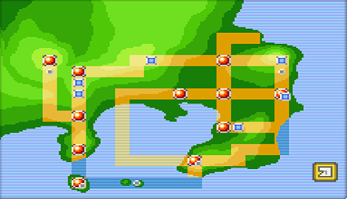 If you consider that some of these roads can't be very wide, much of the land in Kanto remains unclaimed.