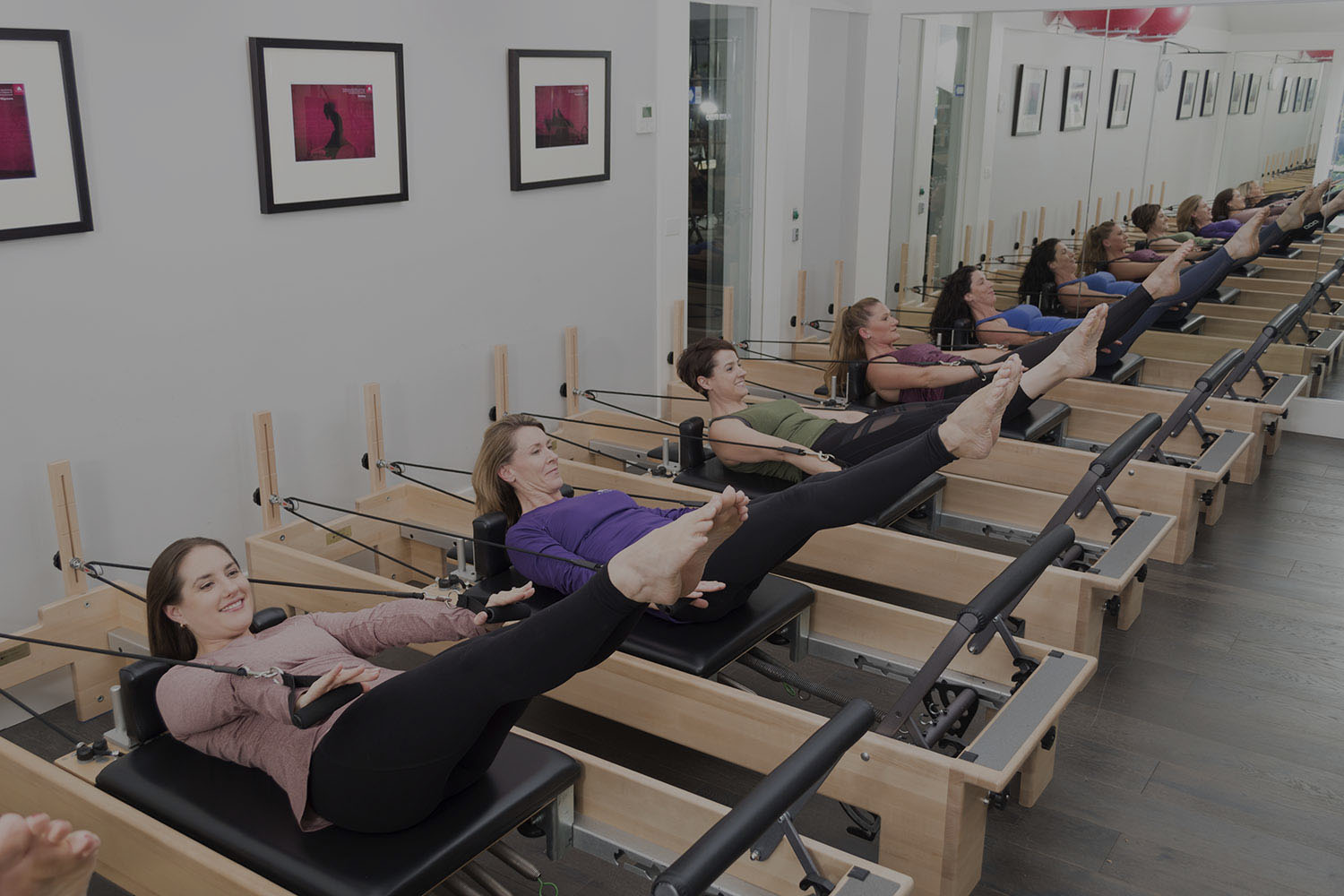 Reformer Classes - A fantastic session of toning, strengthening & challenging Pilates exercises - solely on the reformer - at varying levels, from beginners to experienced.