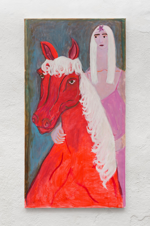 Two Females (for Ursula)  2019 Oil on linen H: 140 cm W: 75 cm  Photo: David Stjernholm