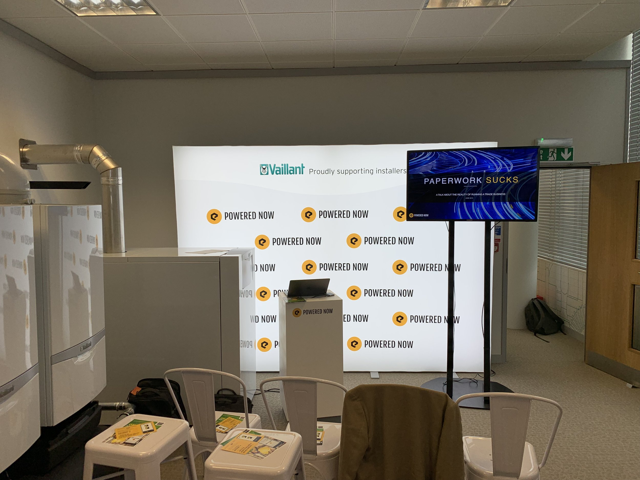 Our stand at the Vaillant roadshow