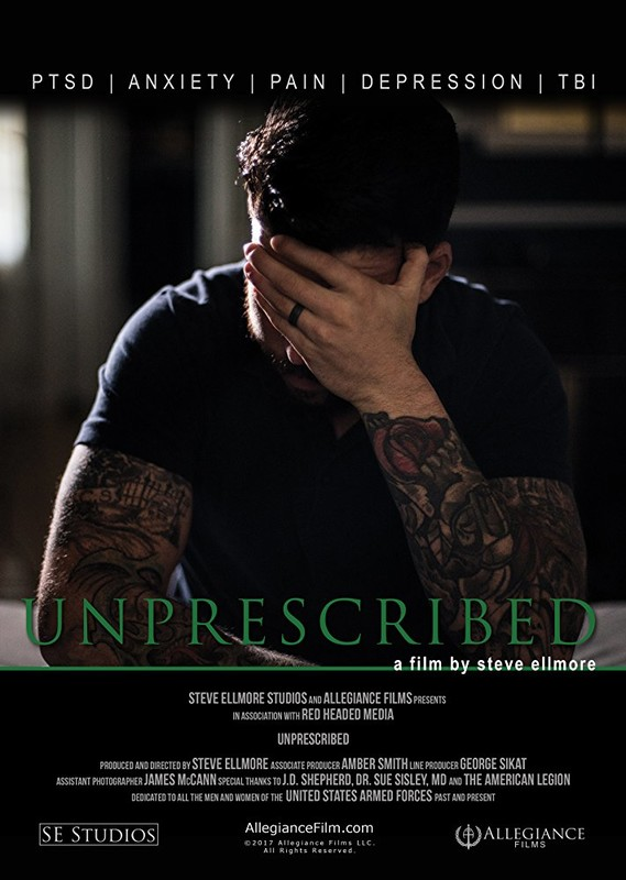 UNPRESCRIBED (Feature) by Steve Ellmore - Across the country, and around the globe, their stories are all the same; veterans risking everything by turning to cannabis to ditch the cocktail of drugs prescribed by military doctors.In his first feature-length documentary, producer, director, and military veteran Steve Ellmore chronicles the lives of fellow veterans, spouses, and family members coping with war-related trauma and the loss of loved ones to suicide brought on by the over-prescription of pharmaceuticals.