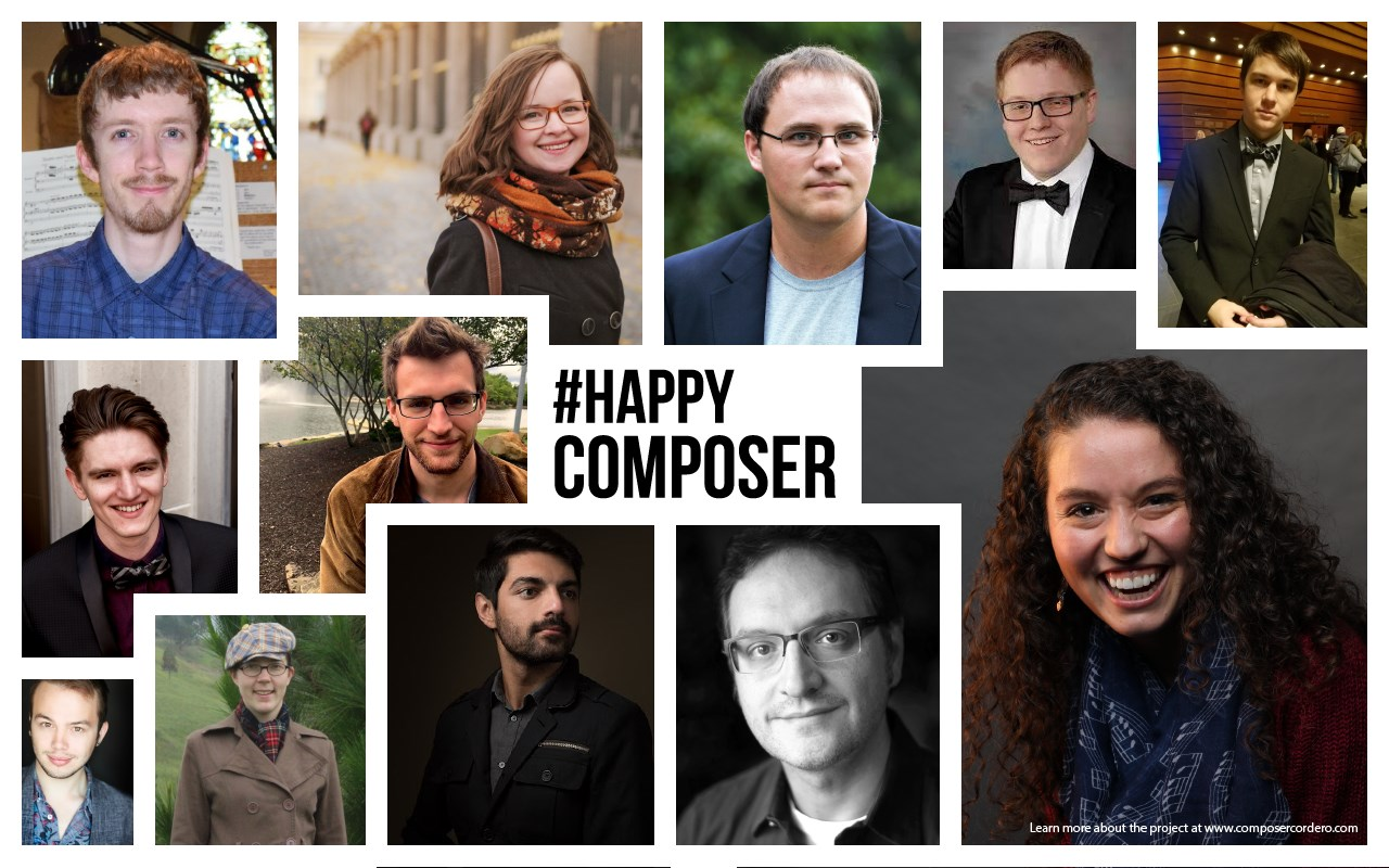Happy Composers Commission Project 2019 - I am incredibly excited to begin working with Carlos Cordero and the Inversion Ensemble from Austin, Texas conducted by Trevor Shaw. The Happy Composer Commission is an educational project to commission new choral pieces from composers in development. Through Happy Composer, new composers will have the experience of creating a commissioned piece for choir with the guidance of composer Carlos Cordero.