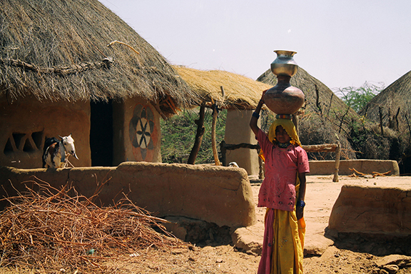 A typical house in Tharparkar