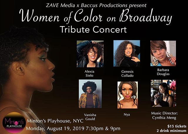 Watch HIGHLIGHTS on our blog! - Alexia Sielo and friends honor Women of Color on Broadway at Minton's Playhouse, on Monday August 19th, 2019. Tickets to the next show TBA!