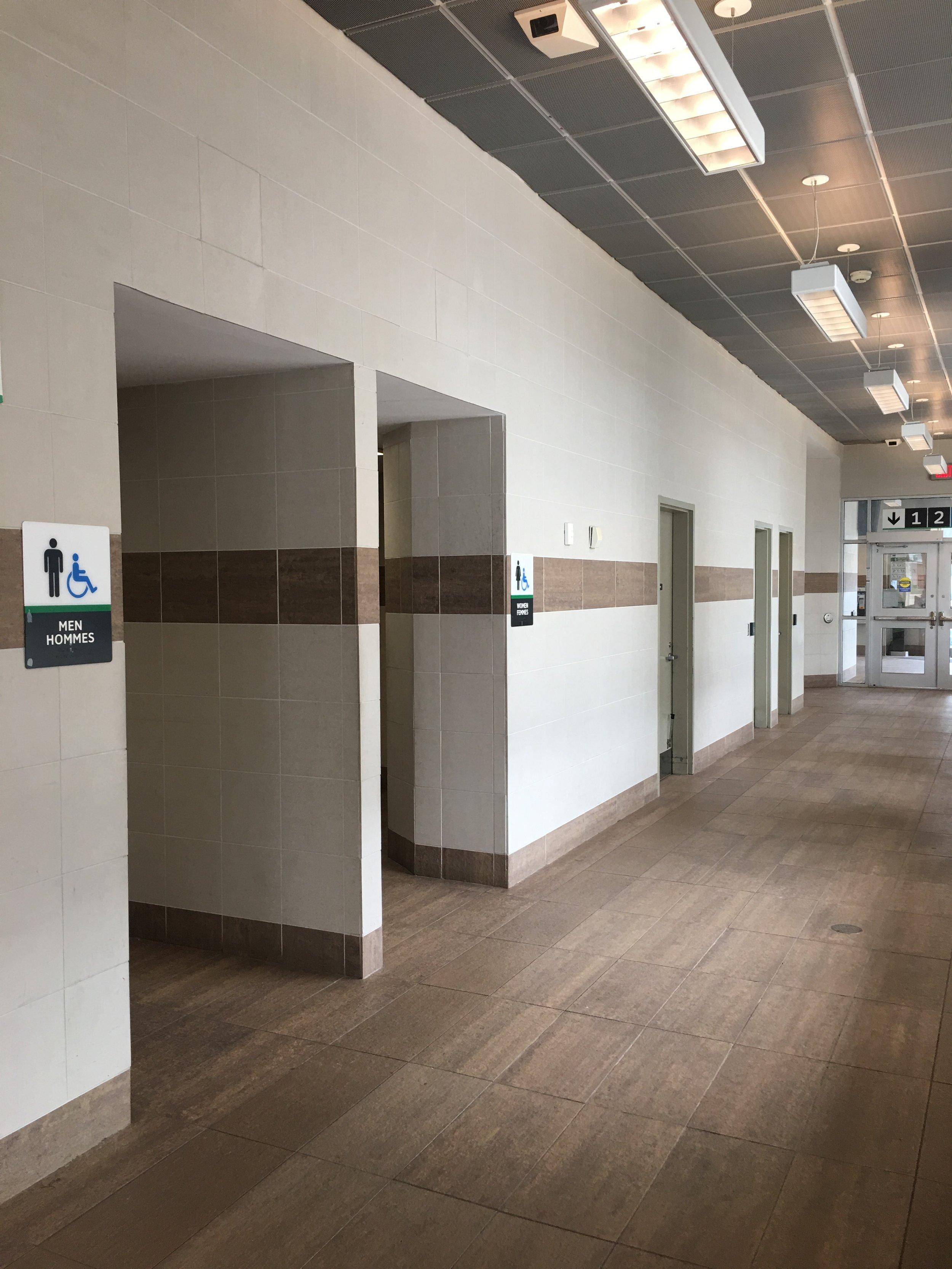 Washroom renovation at Pickering GO