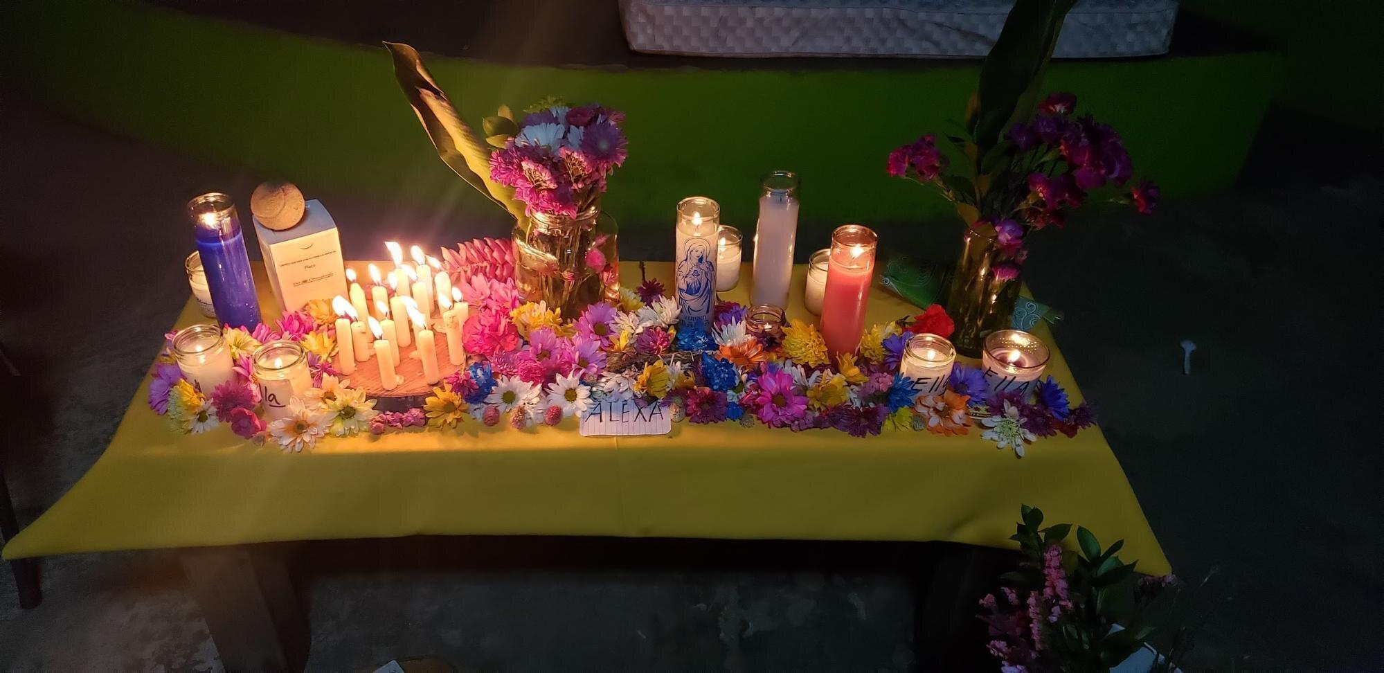 An altar set up to honor Alexa Negrón in Old San Juan, Puerto Rico. Photo courtesy of Marielle De Leon