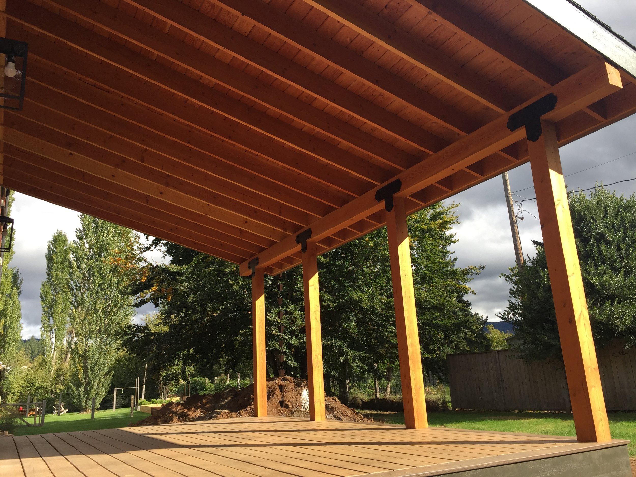 Decking, Fencing, and Pergolas - Custom decks, fences, railings, pergolas, gazebos, porches, trellis, ramps, platforms, enclosures, and other outdoor structures. Our specialized team of builders have over 50 years of combined experience. As with all of our construction projects, we strive to use earth friendly and sustainable materials. For your specific deck or fence project, we can provide responsibly harvested lumber, including hardwoods, as well as engineered solutions.