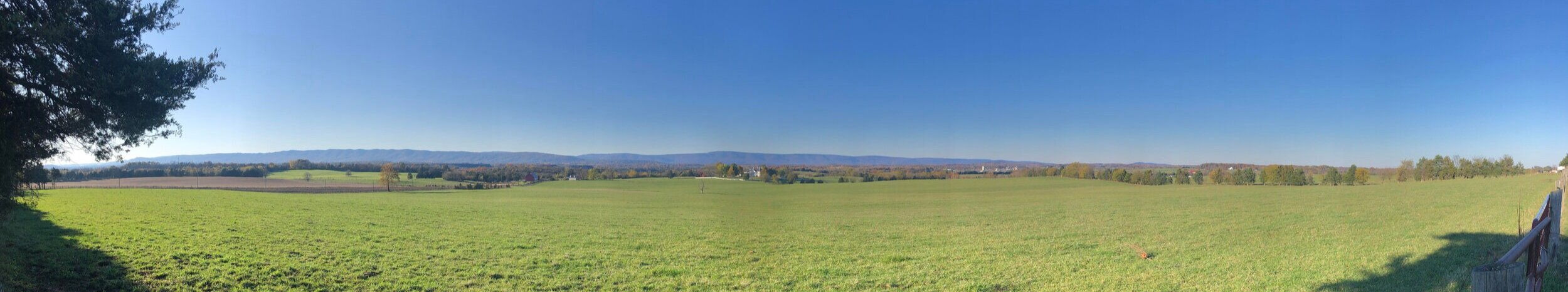This is my last view of the Allegheny Mountains to the west of the Shenandoah Valley. The top of the ridge delineates Virginia and West Virginia.