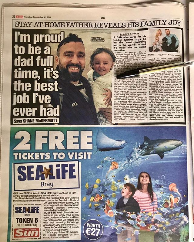 So happy to be featured in today's @theirishsun #newspaper 🙌 Lovely write up and all 100% accurate👌 Being a #stayathomedad to the best #daughter in the world is definitely, 'the most rewarding job in the world'. I wouldn't change it for a thing 💪  #dadsofinstagram #sahd 🇮🇪❤️ . . . . . . . . . . . . . . . . . . #bloggers #blogging #bloggingtips #problogging #bloggerlife #bloggersgetsocial #bloggerproblems #ontheblog #lifestyleblog #lifestyleblogger #thegirlgang #lbloggers #theblogissue #wordpress #instablog #instablogger  #dadswithattitudes #cmpa #dairyallergy #irishblogger #kimkardashian  #parentblogger