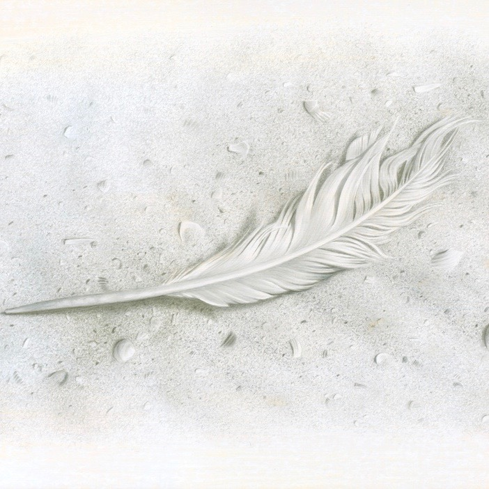 """""""Angel"""", 24k Gold and Pure Silver on prepared paper 5-1/4"""" x 8-1/4"""""""