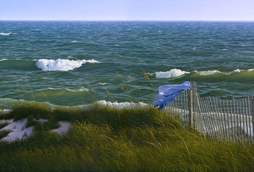"""Fantasy for Wind and Sea"" , oil on canvas 34""x 50"""