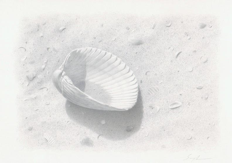 """""""Treasure Isle"""", 24k Gold & Pure Silver on prepared paper 5""""x 7"""""""