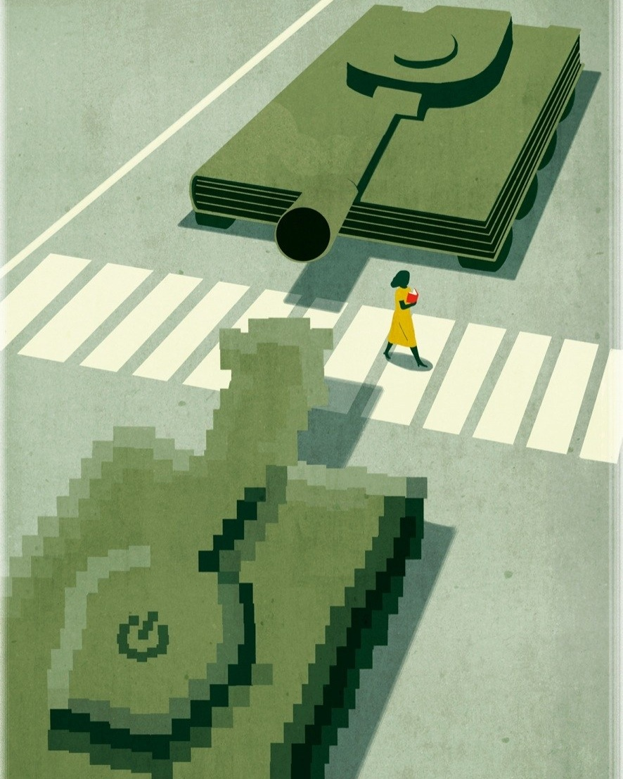 Illustration for The New Yorker by Emiliano Ponzi