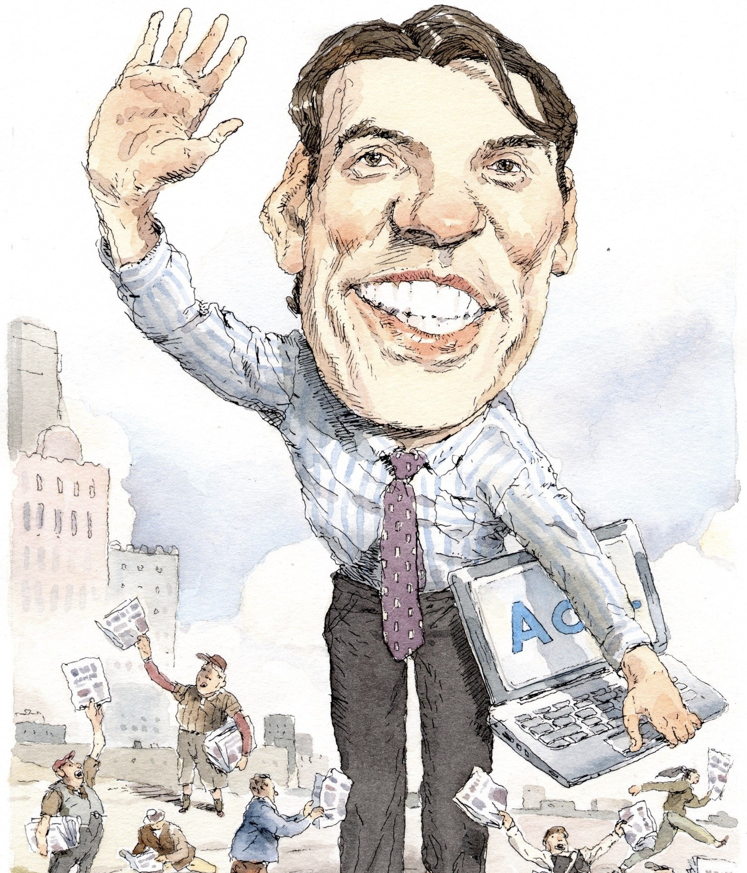 Illustration for The New Yorker by John Cuneo
