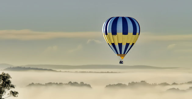 Hot Air Ballooning - Get the best views of the hunter valley followed by a champagne breakfast