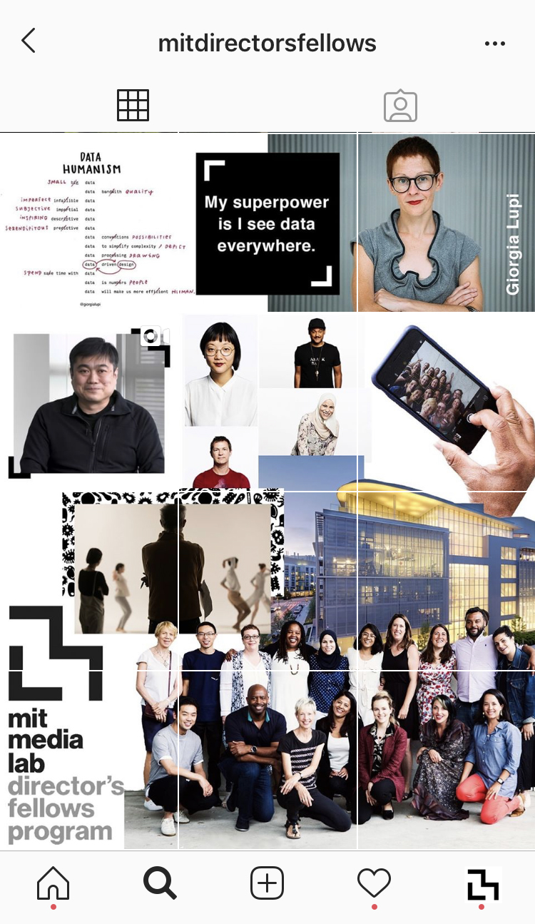 @MITDirectorsFellows - While discovering, designing and developing the MIT Media Lab website we used instagram as a temporary micro site. We launched and produced a series of informative and inspirational content.