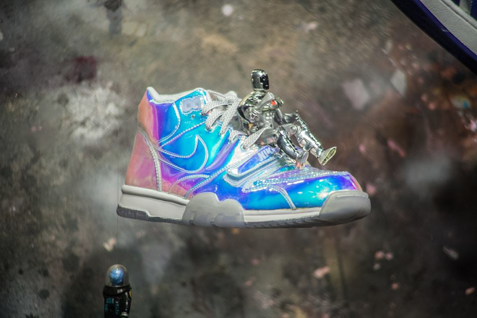 Kicks as Art - The exhibition showcases an array of sneakers, selected from the Sneaker Museum Vault,  including Converse, Air Jordan, Adidas, and Puma, and New Balance. As well as baby kicks, cartoon and comic sneakers and chrome textured sneakers as