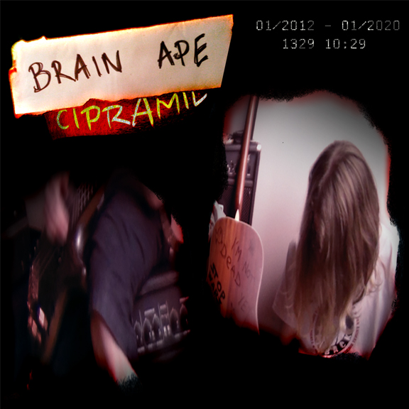 CIPRAMIL - The core composition of this track was written by MINKY TRES-VAIN, and was originally intended to be used on STILL SANE's first album in 2011; a project that never came to fruition. With the birth of BRAIN APE on the 1st of January, 2012, the track was rewritten and arranged by the band and released as BRAIN APE's debut single.