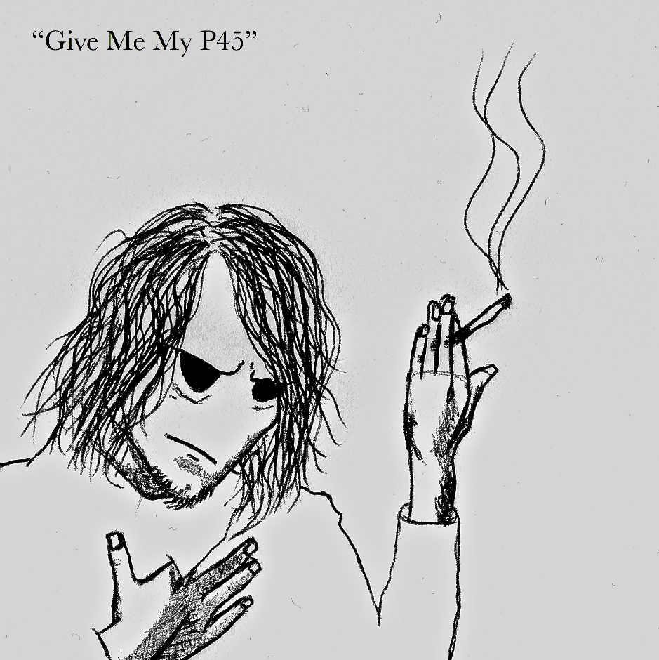 GIVE ME MY P45 - Released four months before the album on which it serves as the opening track, 'GIVE ME MY P45' was published by SCRATCH ROCK RECORDS in order to promote BRAIN APE's second album, 'AUSLANDER'. Its B-side, 'HUNGER', was released alongside the single. It too is featured on the full-length it promoted, however the version available on the single was mixed by producer RYAN STEPHENSON, who engineered and co-produced the album, as opposed to the final mix available on the record.