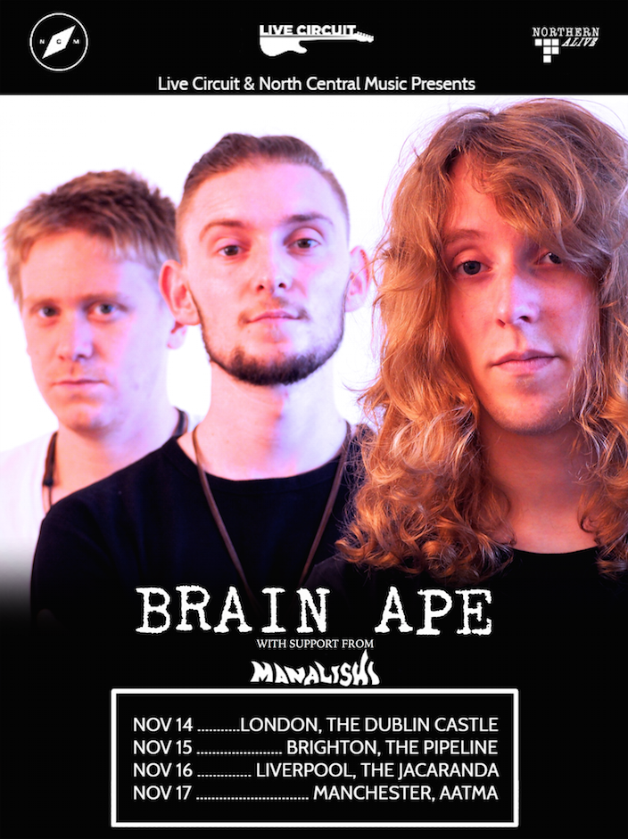 BRAIN APE - BRAIN APE was formed by MINKY TRES-VAIN and SOL ALEX ALBRET in London, England, in 2012. BRAIN APE have been thrô a succession of drummers, with the latest being JAMIE STEENBERGEN who joined in 2018. Having released two full-length studio-albums, BRAIN APE have come to be regarded as one of the most important bands on the label.FACEBOOKINSTAGRAMTWITTERSPOTIFY