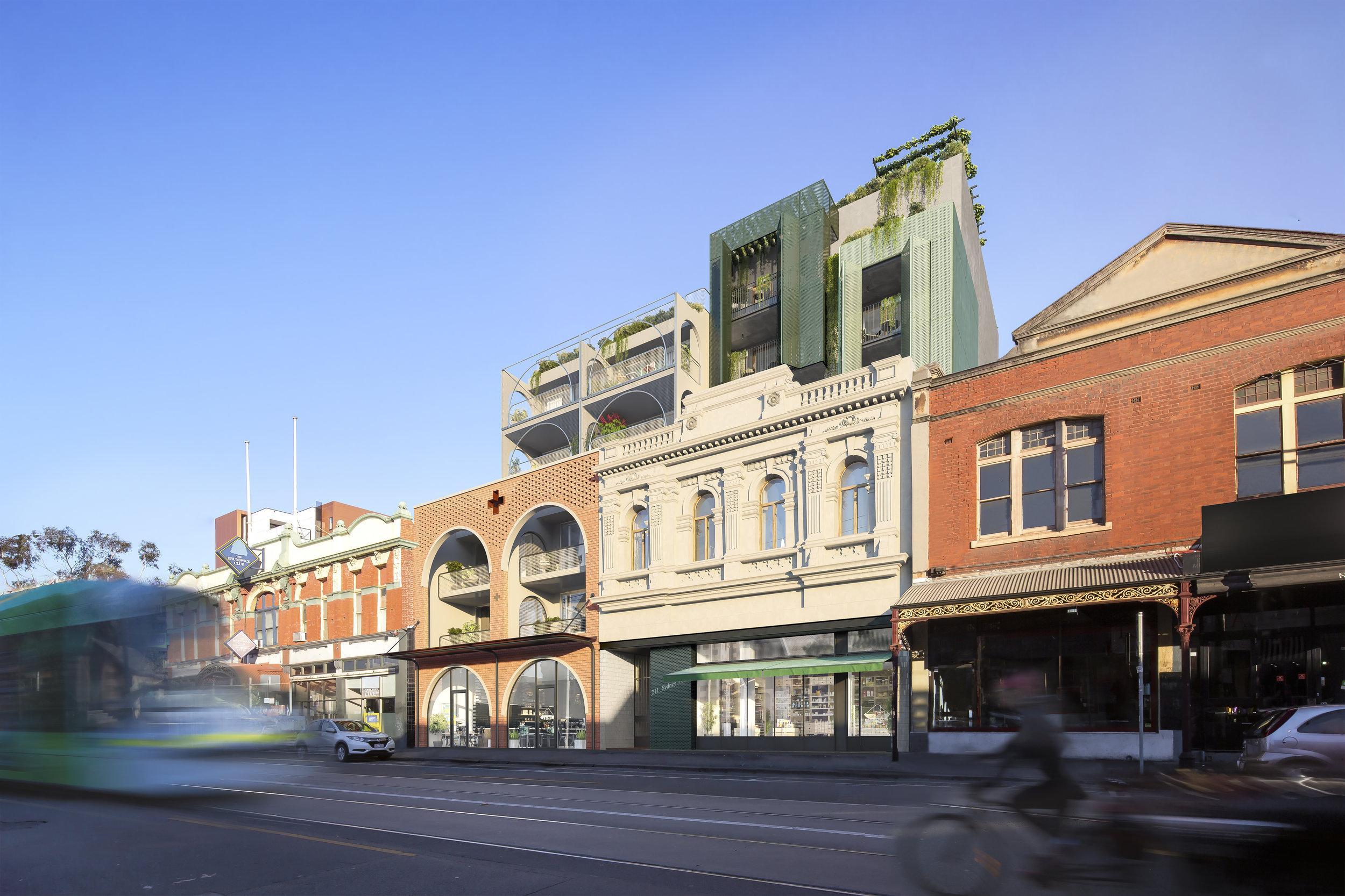 Sydney Road frontage