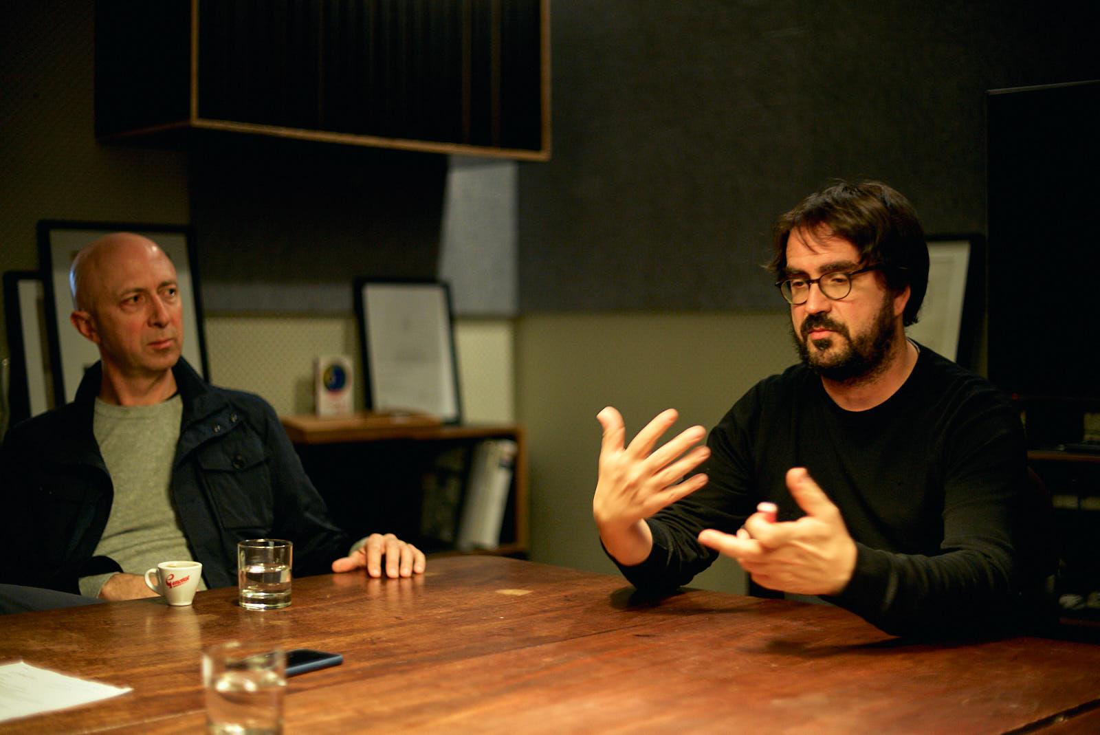 Director James Legge (left) and project lead Horaci Sanchez (right)
