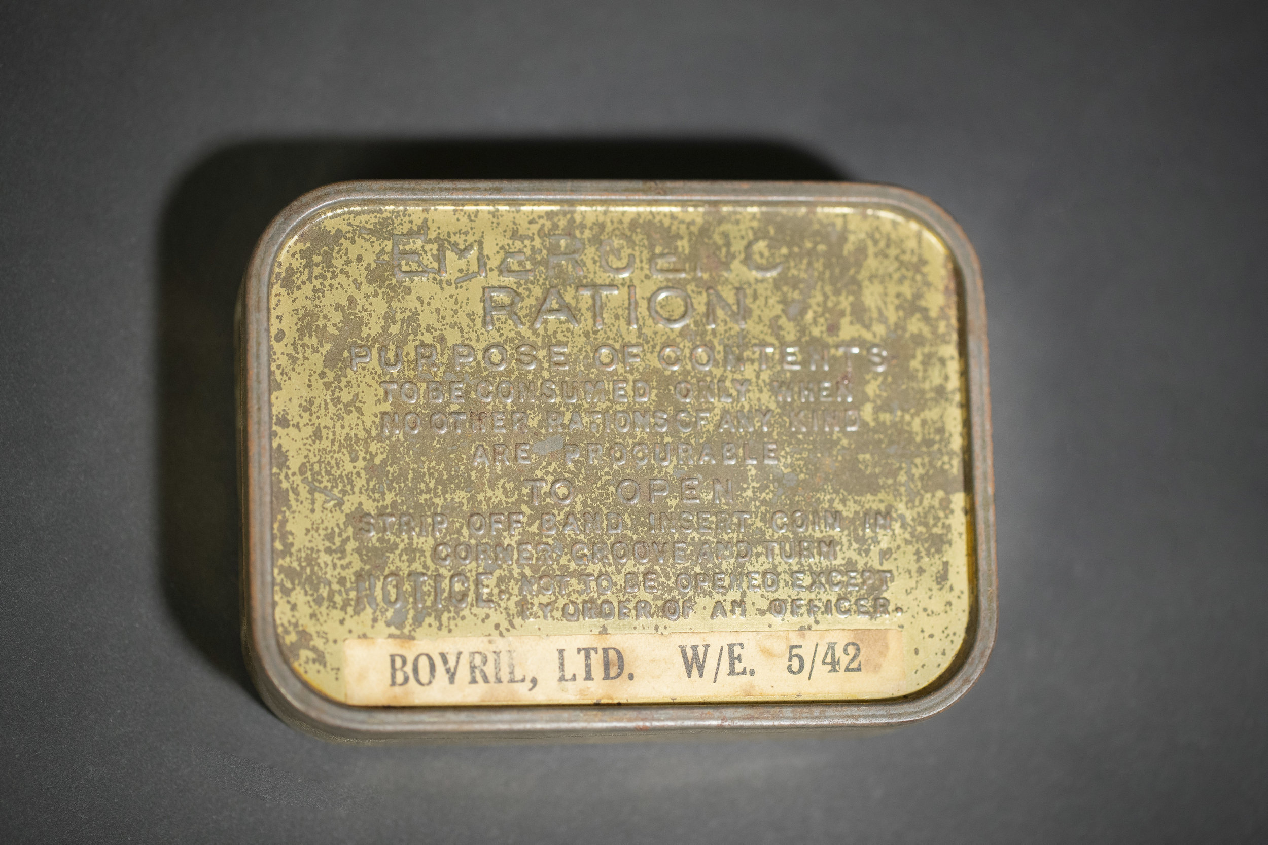 emergency d-day ration tin -