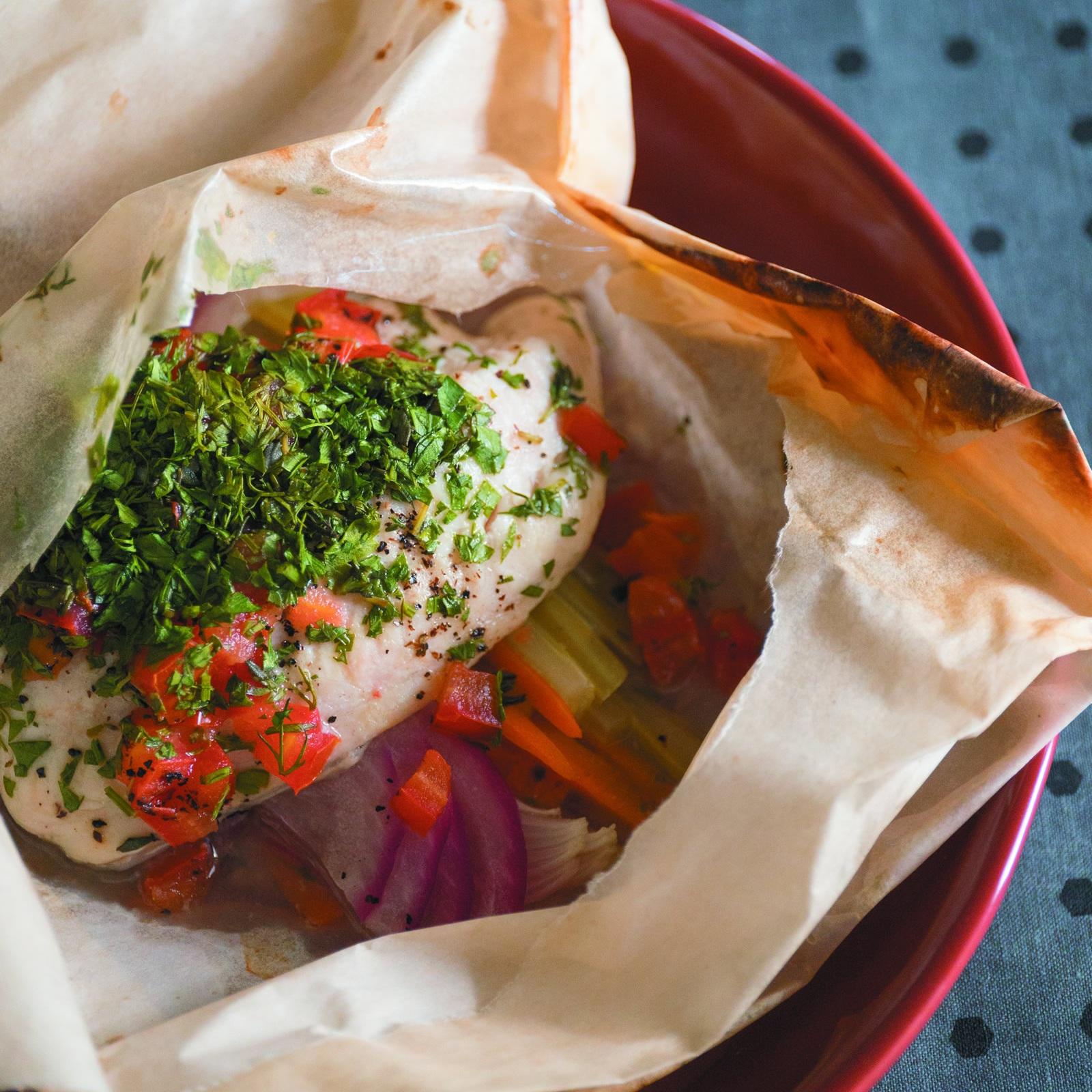 Baked Catfish en Papillote -