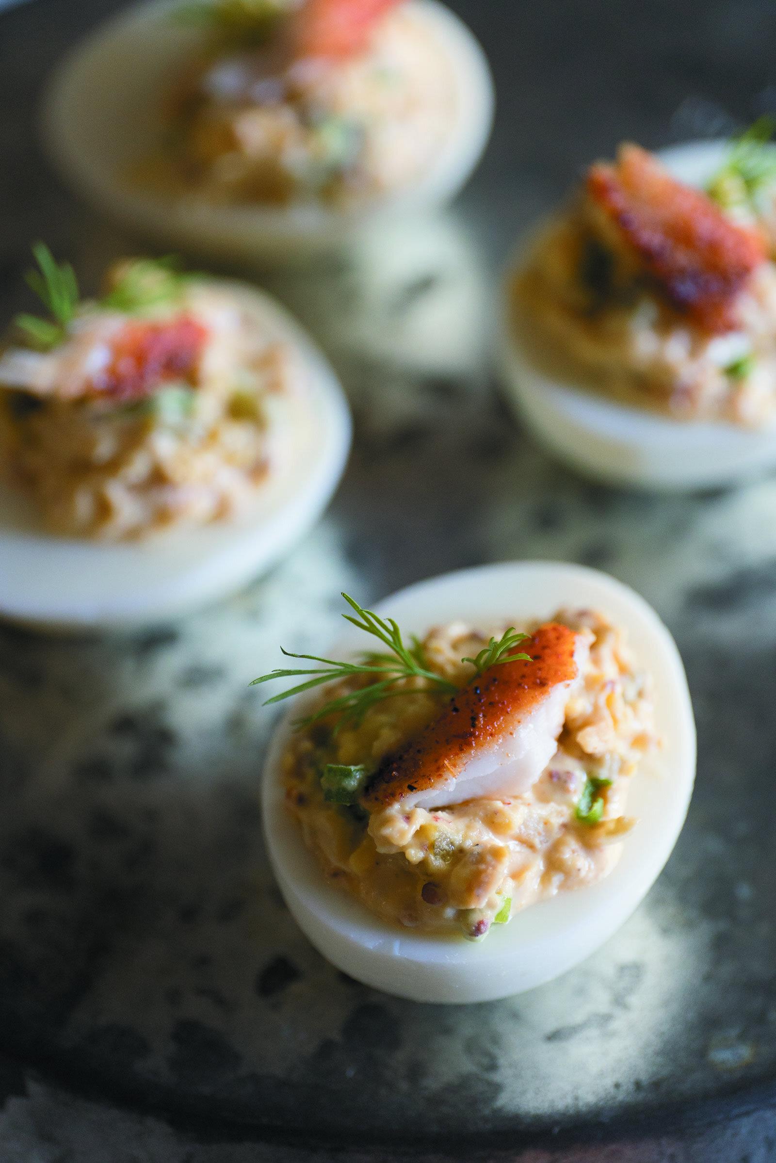 Catfish Deviled Eggs -