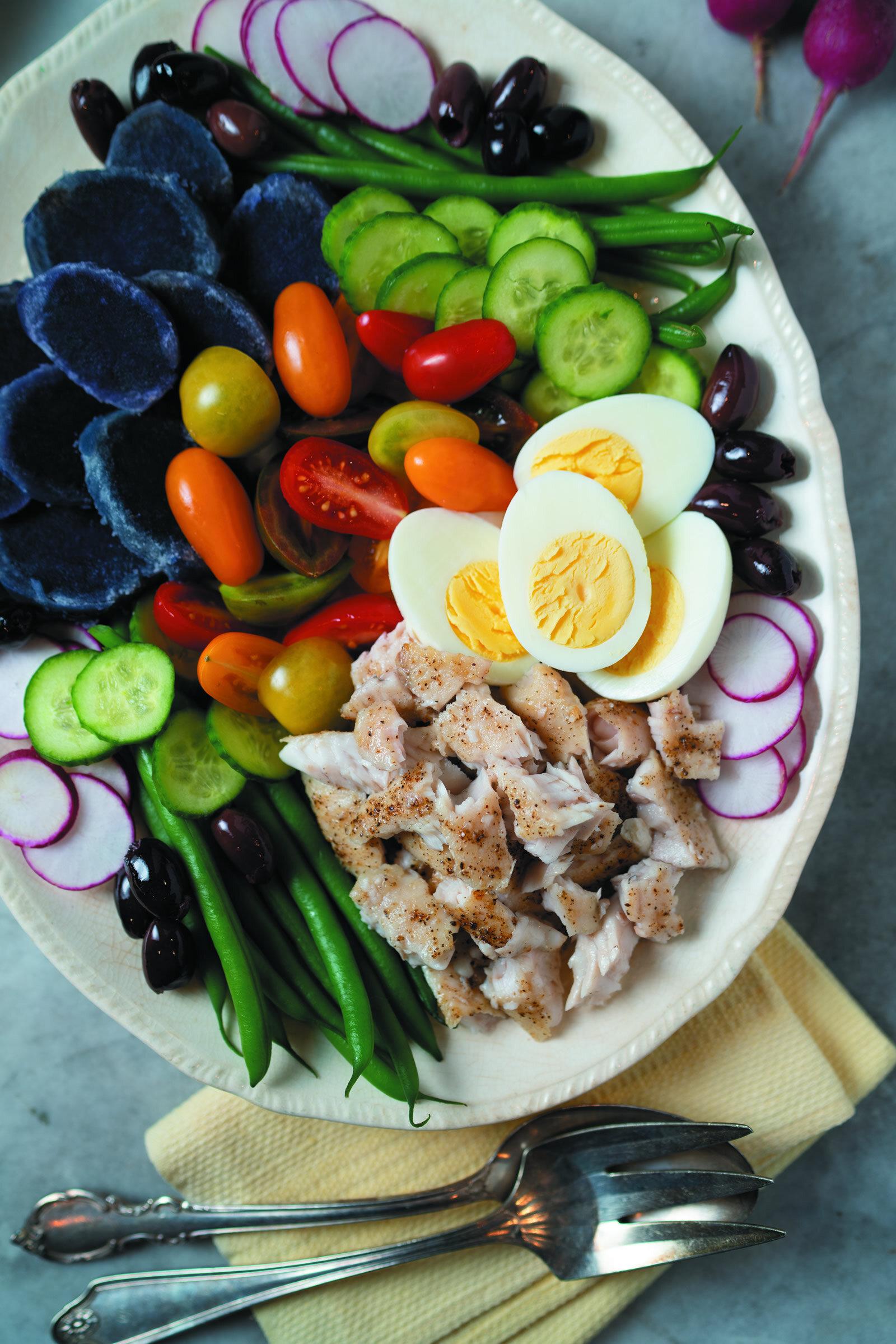 Catfish Niçoise Salad -