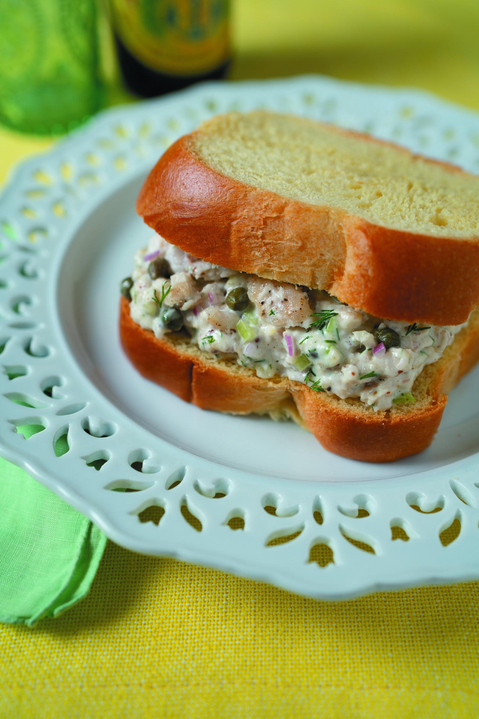 Catfish Salad Sandwich -