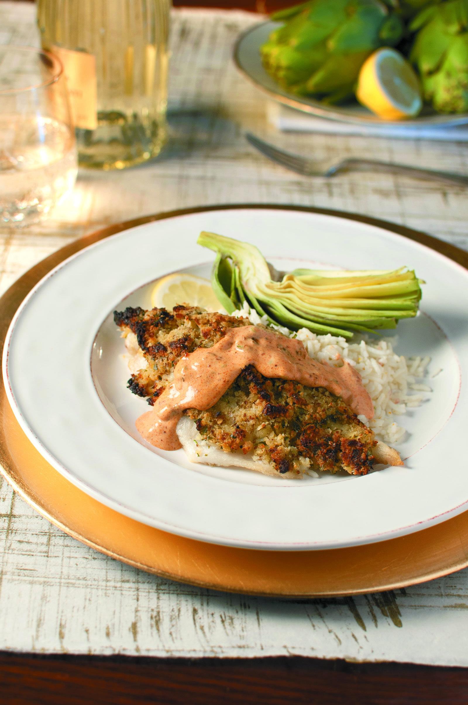 Horseradish Crusted Catfish with Remoulade -