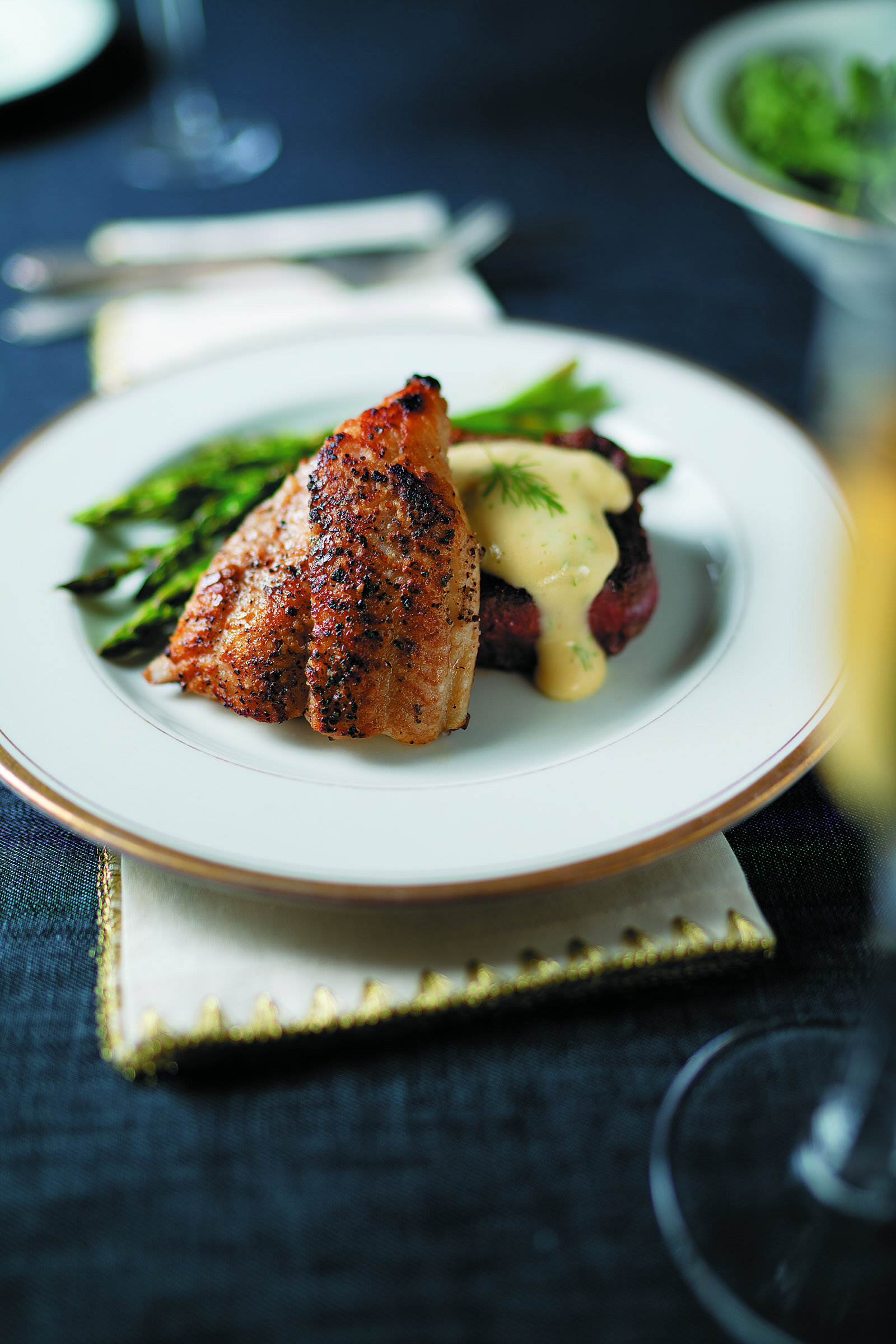 Surf and Turf with Asparagus and Dill Hollandaise -