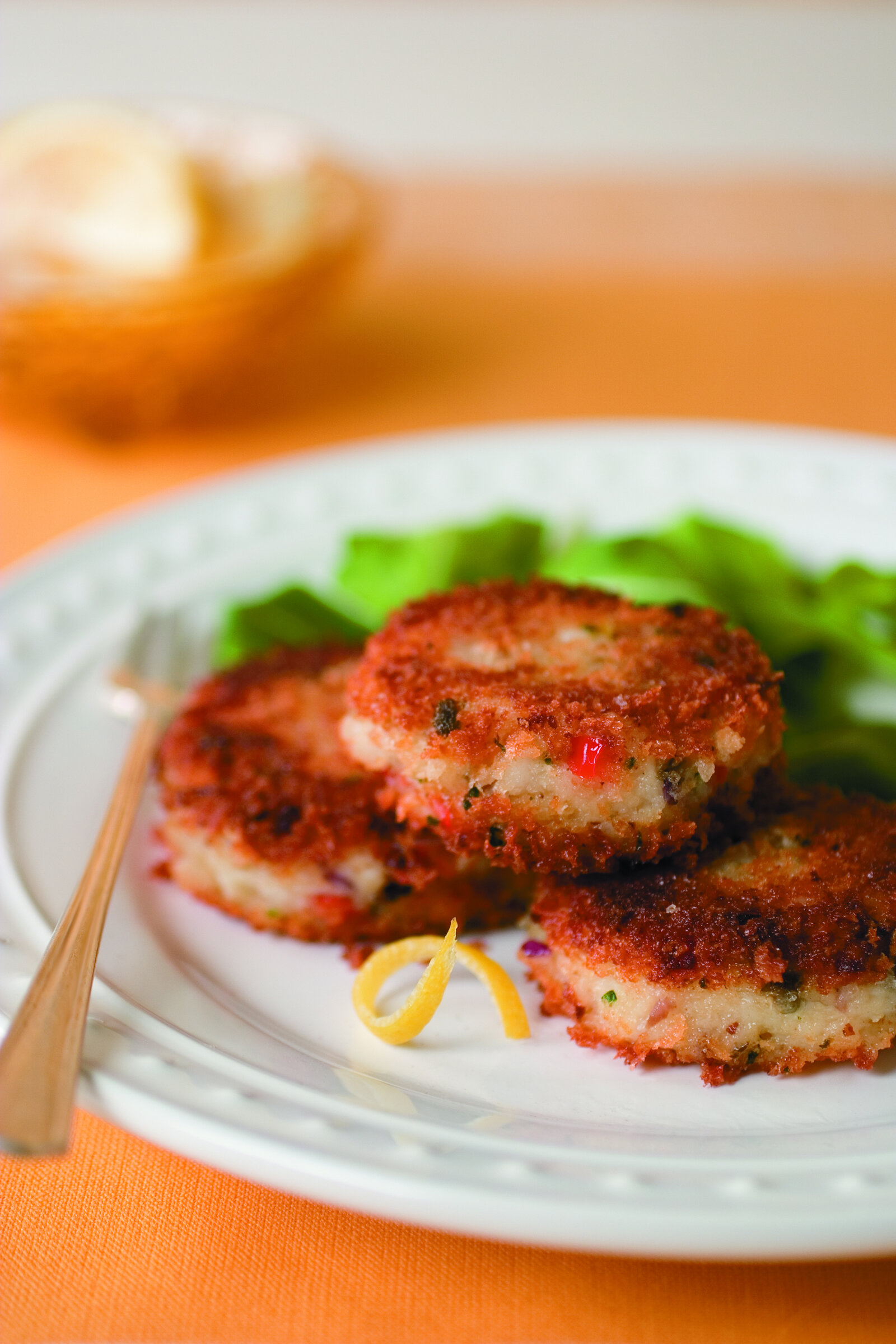 Oven-Baked Catfish Cakes with Lemon Caper Sauce -