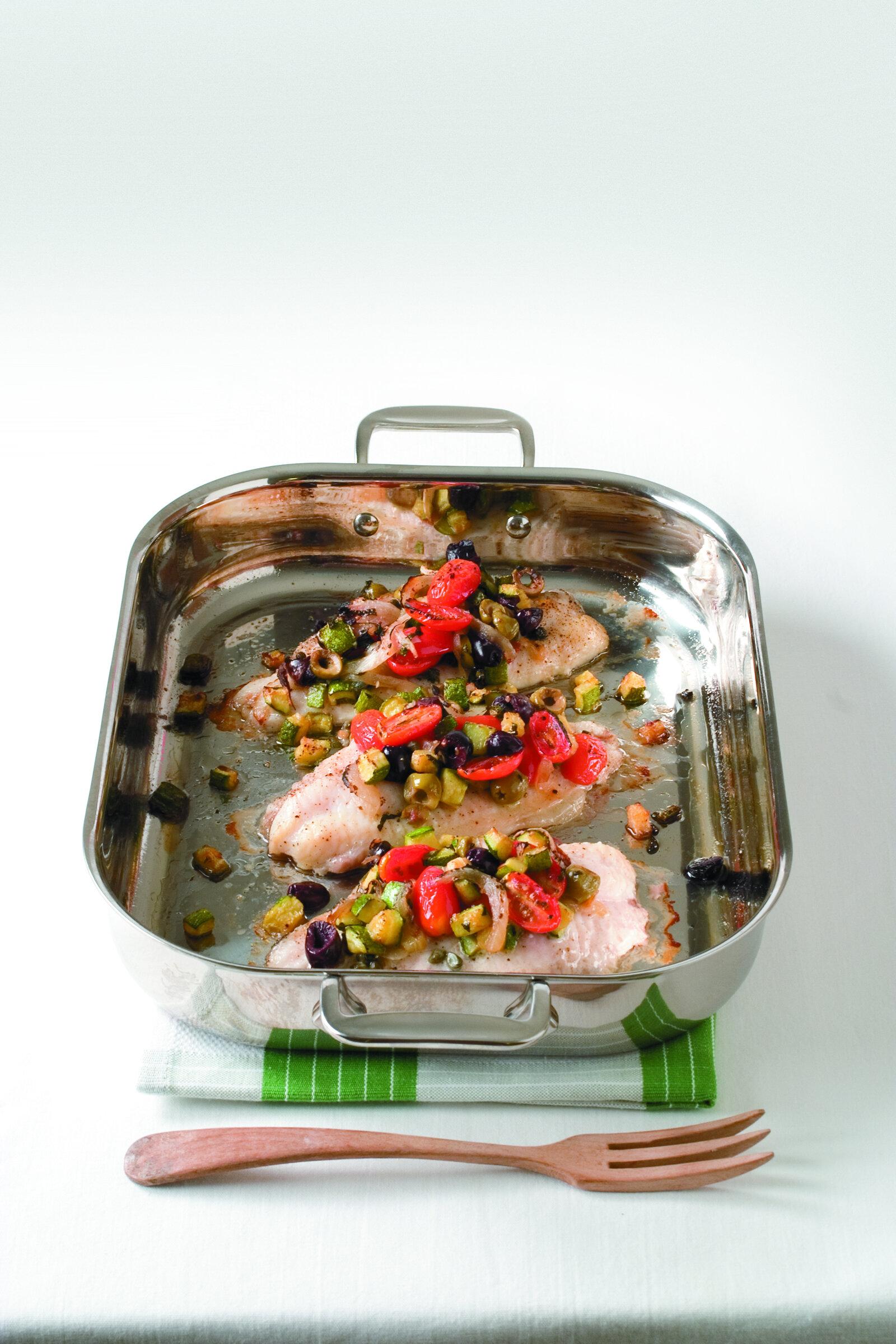Baked Mediterranean Catfish -