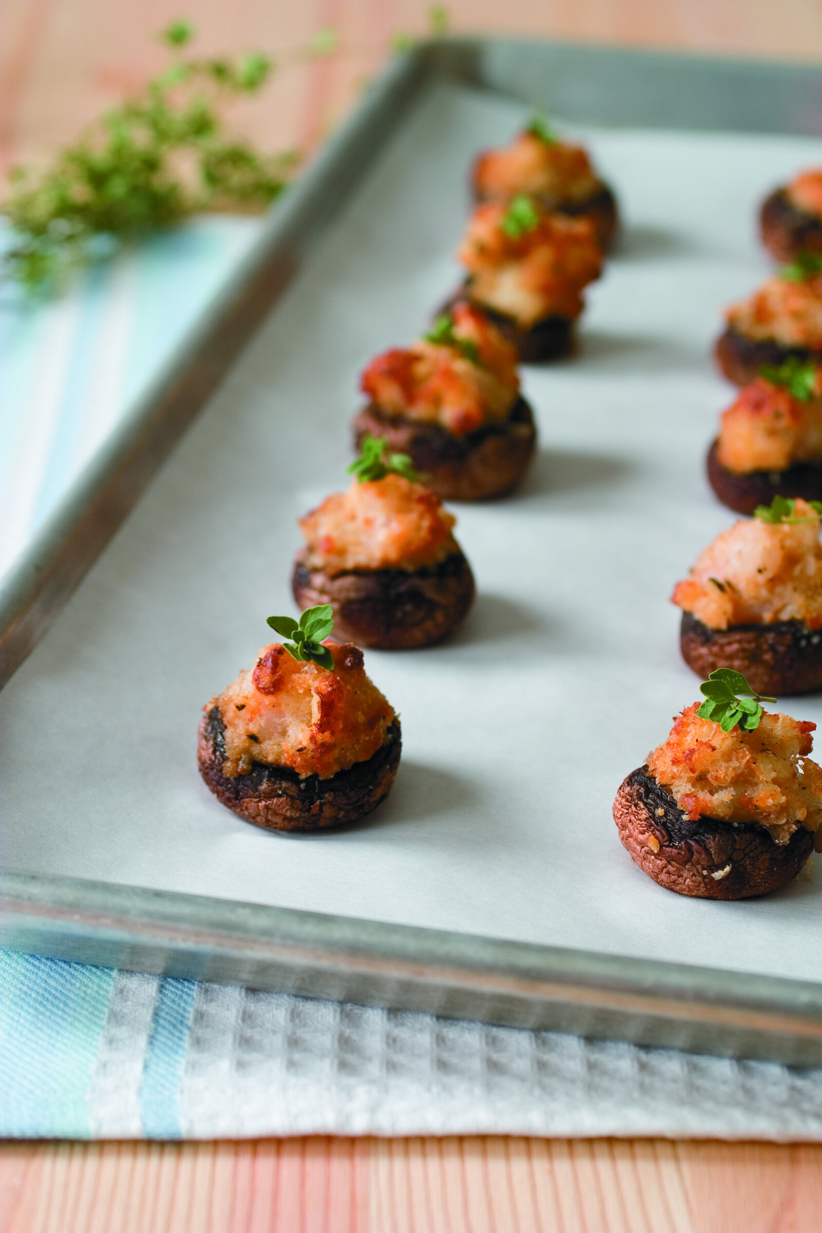 Catfish and Shrimp Stuffed Mushrooms -