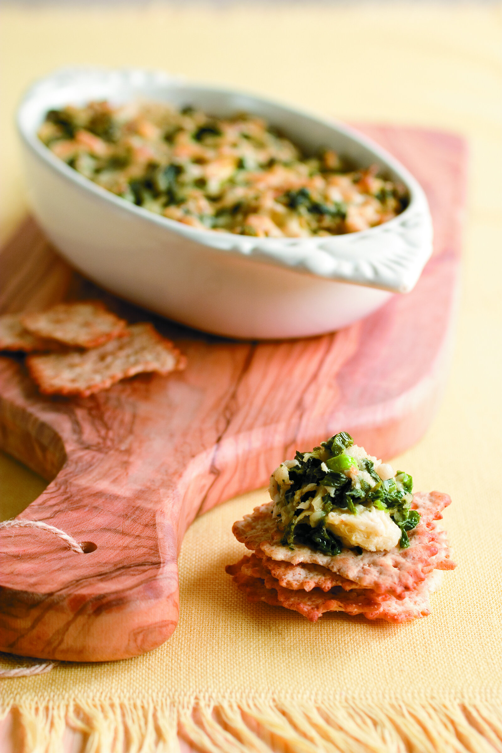 Spinach and Artichoke Dip with Catfish -