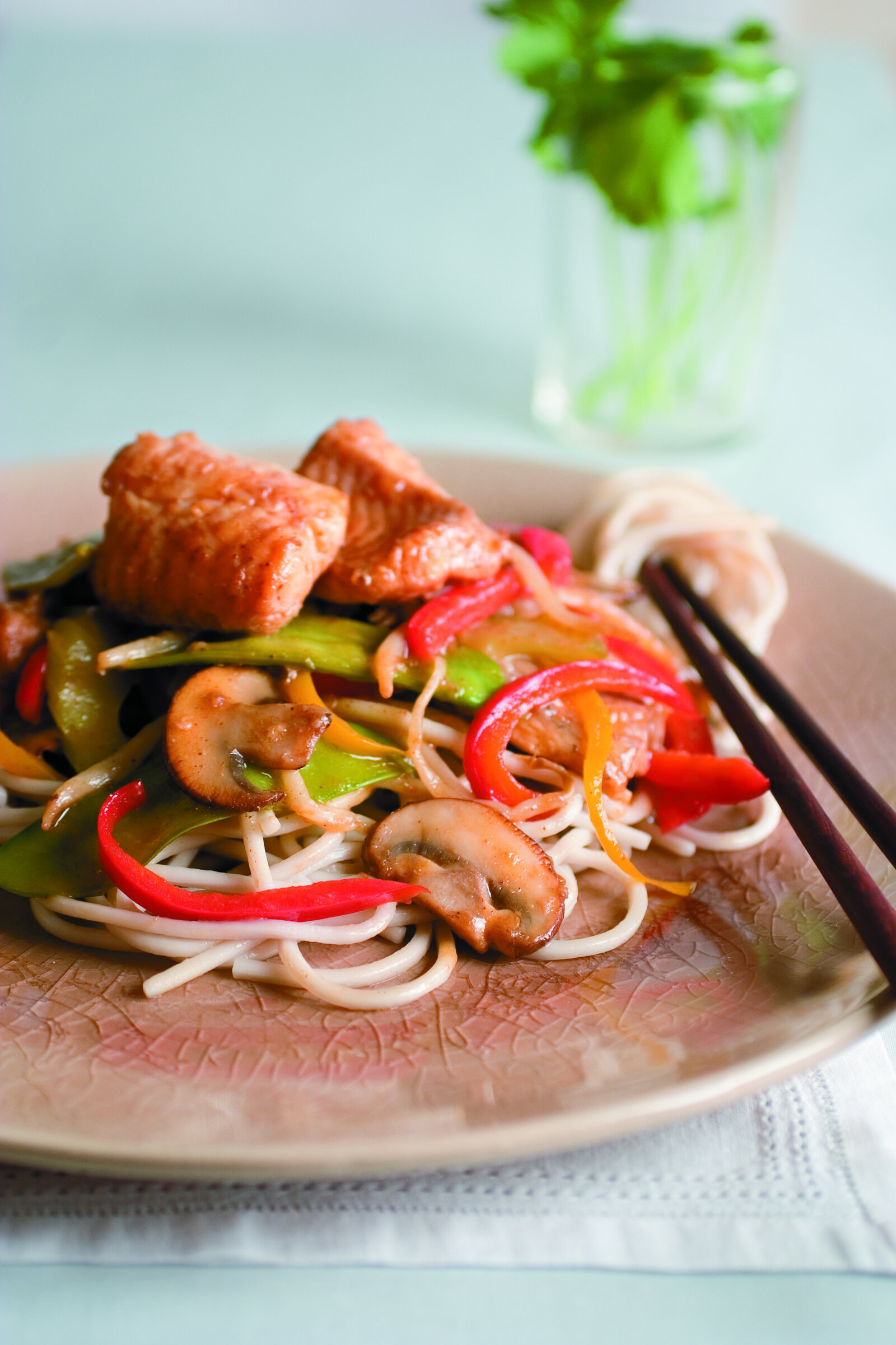 Spicy Asian Catfish with Stir-Fried Vegetables -