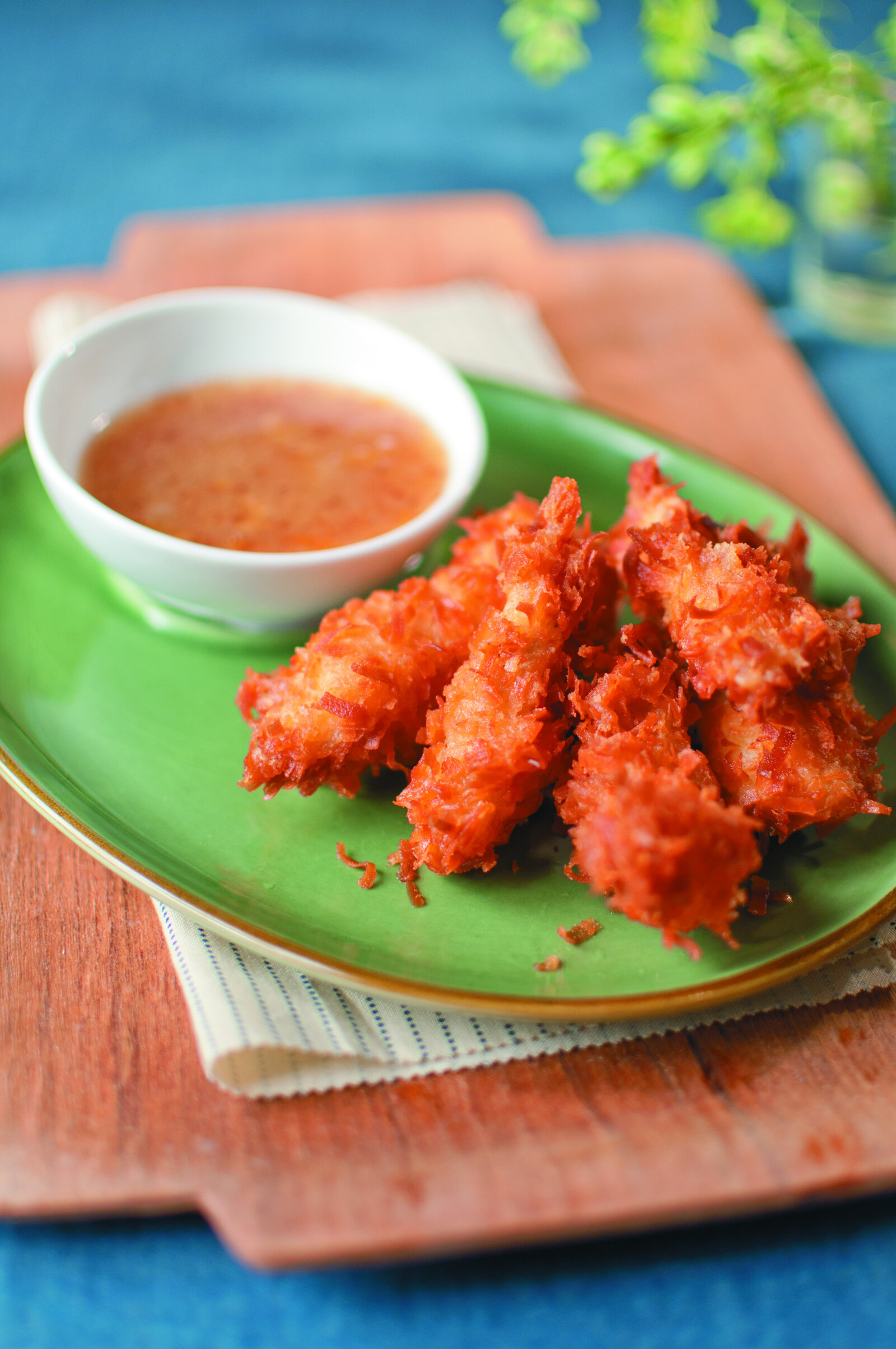Coconut Catfish with Sweet Dipping Sauce -