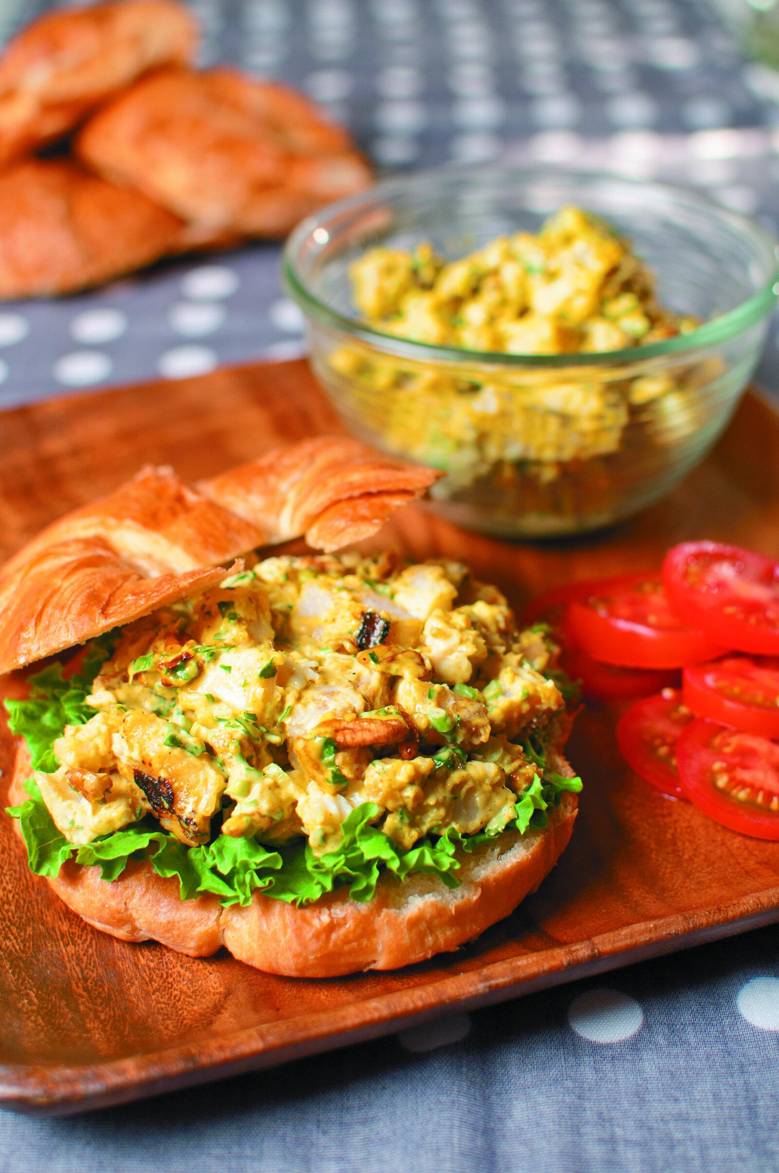 Catfish Curry Salad Sandwich -