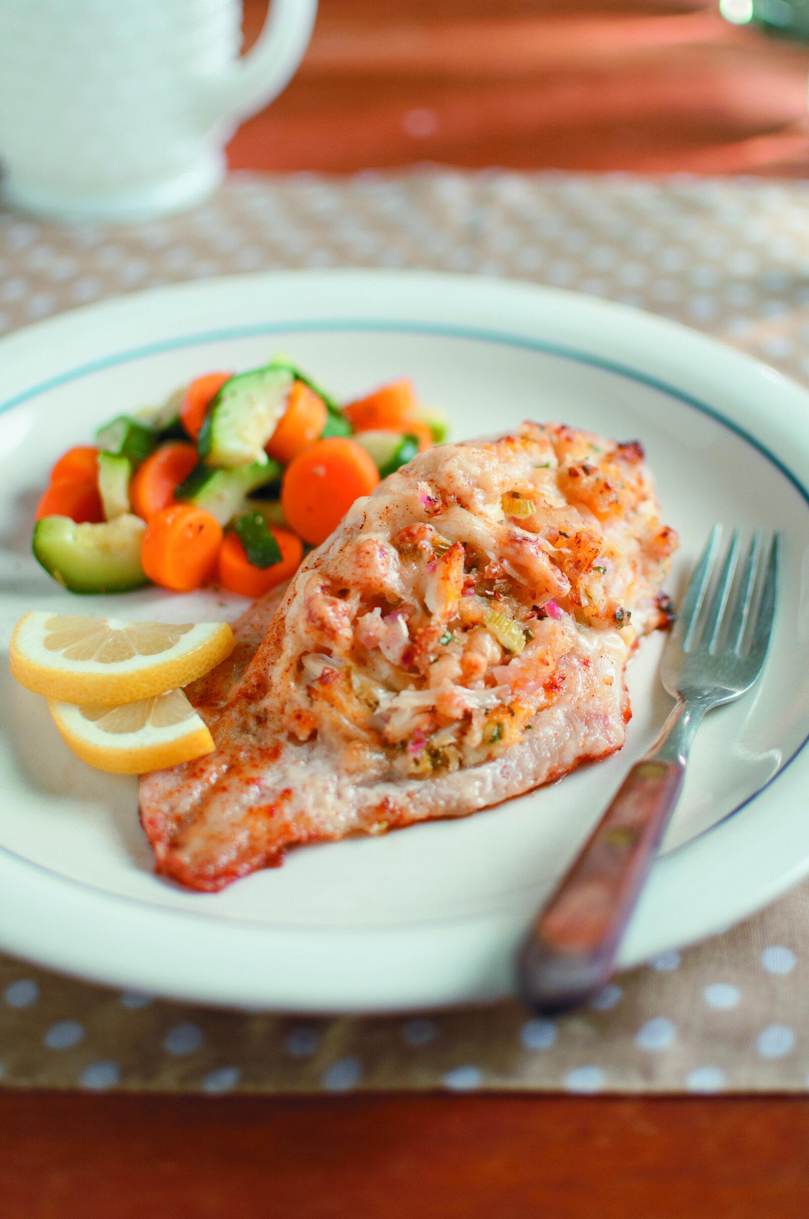 Seafood-Stuffed Catfish -