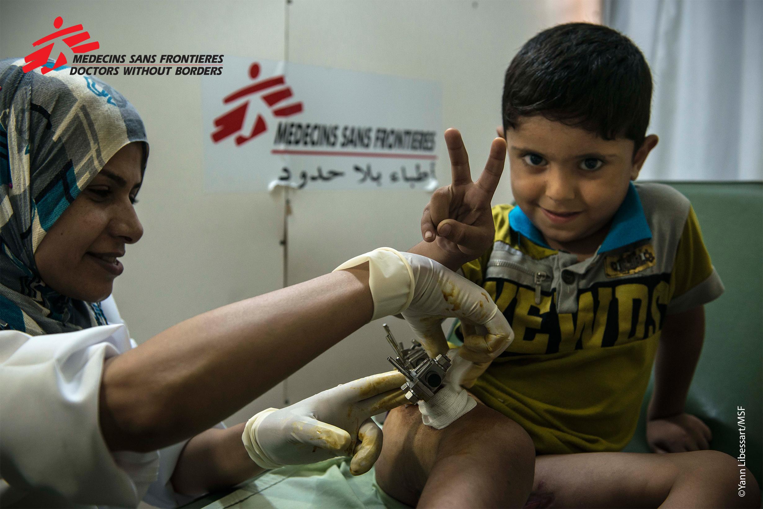 Gaza patients and staff in post-op, copyright Yann Libessart.jpg