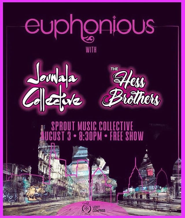🌞TONIGHT!!! JOCO brings the groove to Sprout Music Collective in West Chester, PA. This amazingly FREE show also features the stylings of Euphonious & the Hess Brothers.  The party starts at 8:30 tonight so come out & support live music!