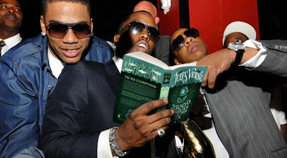 """""""Young, black, and famous, with money hangin out the anus. The human mind delights in grand conceptions of supernatural beings.""""    Puff Daddy ft. Jules Verne"""