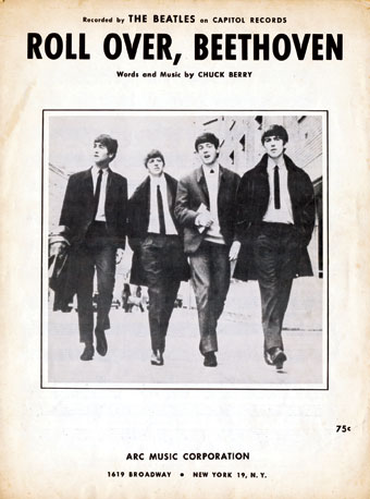 """""""Roll over Beethoven,"""" as recorded by The Beatles"""