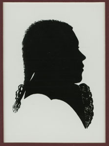 BEETHOVEN AT AGE 16  Reproduction of the silhouette by Joseph Neesen from 1786, first published in the  Biographische Notizen  by F.A. Wegeler and F. Ries in 1838