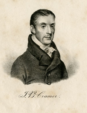 Johann Baptist Cramer (1771-1858)  Lithographed portrait printed in Braunschweig for the  Gallerie berühmte Tonkünstler , ca. 1835 Gift of the American Beethoven Society, 2010